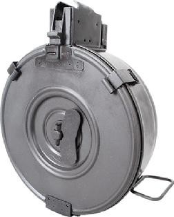 AK-47 75 Round Rear Loading Drum Magazine, New, Made In Romania