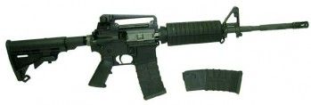 AR-15 Rifle .223/5.56 NATO Caliber w/ Carry Handle, A2 Sights, Hard Case and Extra Magazine