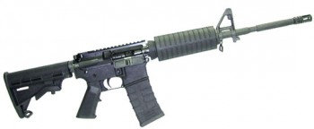 AR-15 Rifle .223/5.56 NATO Caliber w/ M4 Barrel Flat Top and Hard Case