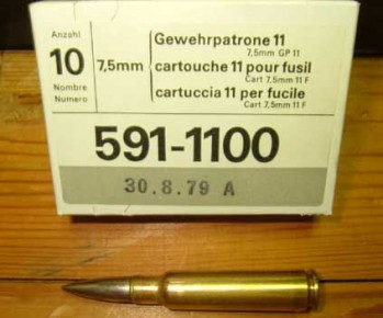 Swiss 7.5x55 174gr FMJ Ammo - 60rd Battle Pack