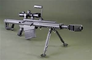 "Barrett 82A1 50 BMG 29"" W  Fluted Barrel Semi-Auto and Leopold Optics"