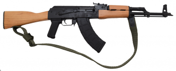 Romanian WASR-10 AK-47 Rifle w/ Wood Stock and Forearm, 45 Degree Compensator, Bayonet Lug and 2 Magpul Mags