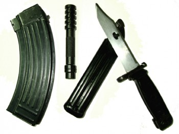 Yugo AK-47 Accessory Package - With Mag, Bayonet and Thread On Blank Firing Adapter