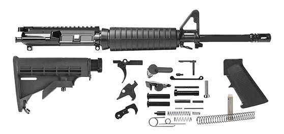 "Del-Ton AR-15 16"" H-Bar Rifle Parts Kit - RKT101 - No FFL Required"