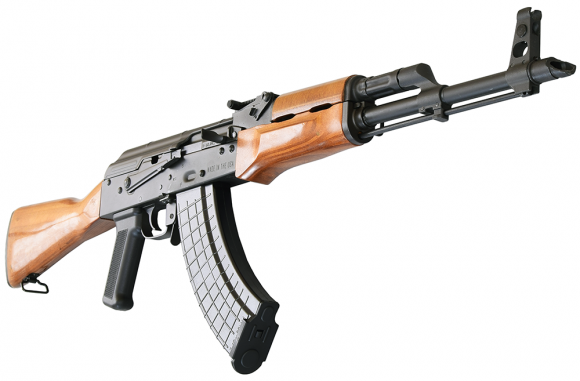 I.O. M247-C AK-47 Semi-Auto  Rifle U.S. Made 7.62x39 Caliber, Laminated Wood Stock, w/ 1-30 Rd Mag, Scope Rail, Hard Case and Lifetime Warranty