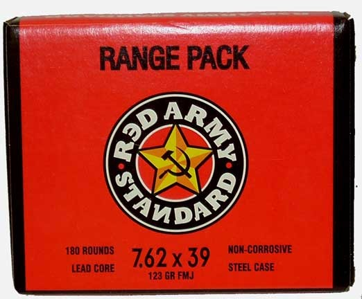 Red Army Standard 7.62x39 123gr FMJ Ammo - 180rd Range Pack