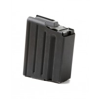 ASC .308 SR-25 10rd Mag, Black Marlube Stainless Steel With Black Follower