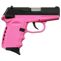 SCCY CPX-1CBPK,  9mm Polymer Frame Pistol, Blued Slide on Pink, DAO  W/ Safety - 10+1 w/ 2 Mags