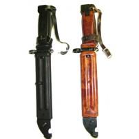 Original Bulgarian AK-74 Wire Cutter Bayonet - Black Polymer or Bakelite