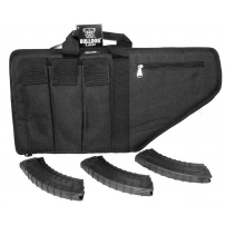 "AK-47 Pistol Shooters Package w/ 25"" Case and 3 Tapco 30 Round AK Mags"