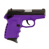 SCCY CPX-1CBPU, 9mm Polymer Frame Pistol, Blued Steel Slide on Purple, DAO 10+1 w/ 2 Mags W /Safety