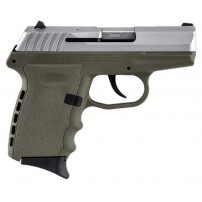 SCCY CPX-2TTDE 9mm Polymer Frame Pistol, Satin Stainless Slide on Dark Earth Polymer Frame, DAO 10+1 w/ 2 Mags