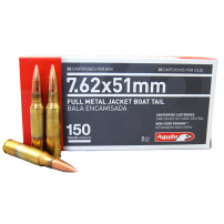 Aguila 7.62x51mm Nato FMJ BT 150 Grain 20 Round Box Item # 1E762110