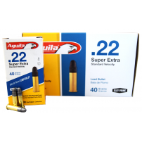Aguila 22LR Ammunition Standard Velocity, Solid Point .40 Grain 500 Round Brick