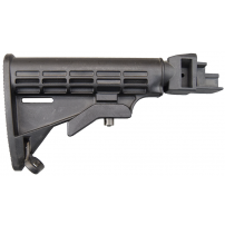 AK T-6 6 Position Collapsible Intrafuse Stock, For Stamped Receiver - Black by Tapco - BULK