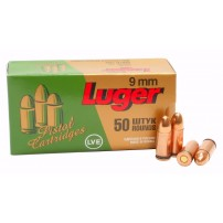 Russian 9mm 9x19 124gr FMJ Ammo - 50rd Box
