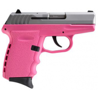 SCCY CPX-2TTPK,  9mm Polymer Frame Pistol, Satin Stainless Slide on Pink, DAO 10+1 w/ 2 Mags