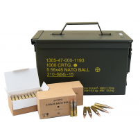 SS109 / GP21 Penetrator 5.56x45 NATO 62 Grain Ammunition - Factory Sealed M21A Can 1000rds