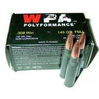 Wolf Polyformance .308 Winchester,  FMJ Ammo - 20rd Box