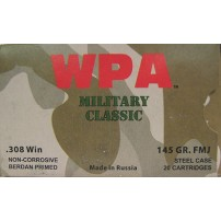Wolf Military Classic .308 Winchester Ammo - 500 Round Case