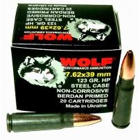 Wolf 7.62x39 123gr HP Ammo - 1000rd Case