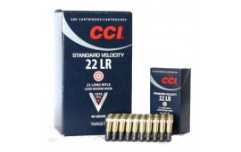 CCI Standard Velocity .22 LR Ammo, LRN Bullet, 40 Grain