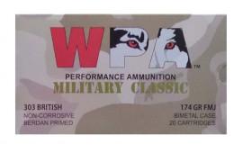 .303 British - 174 Grain FMJ - Wolf WPA Military Classic - 280 Rounds