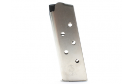 ASC Full-Sized 1911 45 ACP 7 Round Natural Stainless Steel Magazine W/ Stainless Steel Floor Plate