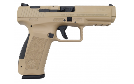 Canik TP-9 SA 9mm Pistol w/ 2- 18 Round Mags, Hard Case and Accessories  Desert Tan Finish - TP9SA HG3277D-N