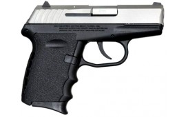 SCCY CPX-2TT 9mm Polymer Frame Pistol, Satin Stainless on Black, DAO 10+1 w/ 2 Mags