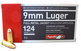 Aguila 9mm Luger Ammo 124gr Full Metal Jacket - 50rd Box