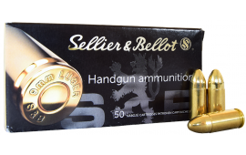 Sellier and Bellot 9mm 115gr FMJ Ammo - 50rd Box