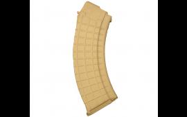 AK-47 7.62x39mm (30)Rd Tan Polymer Magazine - AK-A2, by ProMag