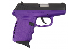 SCCY CPX-2CBPU, 9mm Polymer Frame Pistol, Blued Steel Slide on Purple, DAO 10+1 w/ 2 Mags