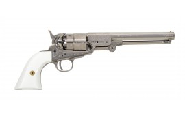 1851 Navy Engraved .44 Cal Brass - Nickel, by Traditions - FR185117, Black Powder - No FFL Required.