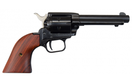 """Heritage Rough Rider Revolver - .22 LR Caliber, 4.75"""" Blued with Wood Grips"""