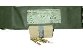 7.62x51 NATO by Hirtenberger Mfg (Austria), Brass, Boxer, Reloadable, Non Corrosive, Lead Core .308 - 360 Round Battle Pack