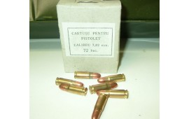 Romanian 7.62x25 Ammunition, Brass, Berdan, 1980's Production, Sure Fire - 72rd Box