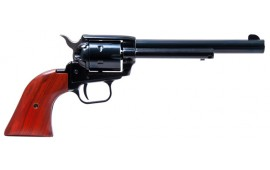 "Heritage Rough Rider Revolver - .22 LR Caliber, 6.5"" Blued with Wood Grips"