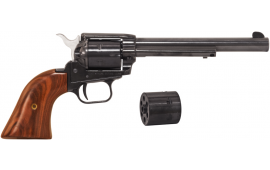 "Heritage Rough Rider Revolver - .22 LR / .22 Mag Combo, 6.5"" Blued with Wood Grips"