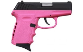 SCCY CPX-2CBPK,  9mm Polymer Frame Pistol, Blued Slide on Pink, DAO 10+1 w/ 2 Mags