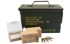SS109 / GP21 Penetrator 5.56x45 NATO 62 Grain Ammunition in Factory Sealed M21A Can - 1000rd Can