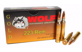 Wolf Gold .223 55gr Premium Grade FMJ Ammo - 20rd Box
