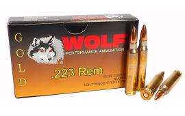 Wolf Gold .223 55gr Premium Grade FMJ Ammo - 1000rd Case