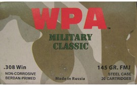 Wolf Military Classic .308 Winchester Ammo - 20rd box