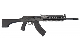 I.O. M214 AK-47 Semi-Auto Tactical Rifle U.S. Made 7.62x39 Caliber, Black Poly Stock, w/ 2 Mags and Lifetime Warranty