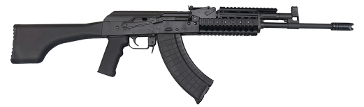 I.O. M247-T AK-47 Semi-Auto Premium Grade Tactical Rifle, U.S. Made 7.62x39 Caliber, w/ 2 Mags, Hard Case and Lifetime Warranty